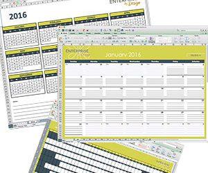 2016 Planner spreadsheets