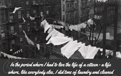 Patti Smith on laundry