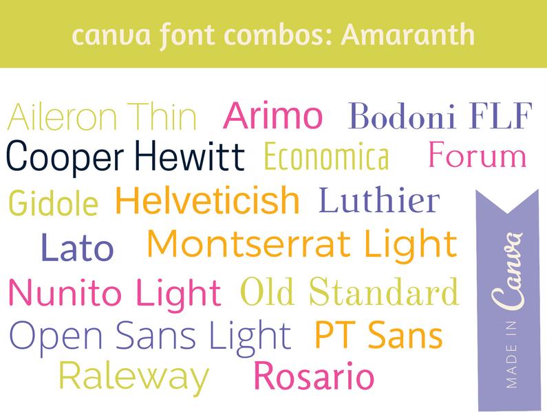 Canva Combos: Amaranth