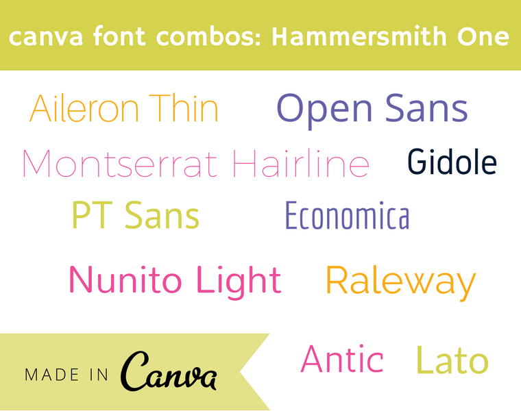 canva font combos- Hammersmith One
