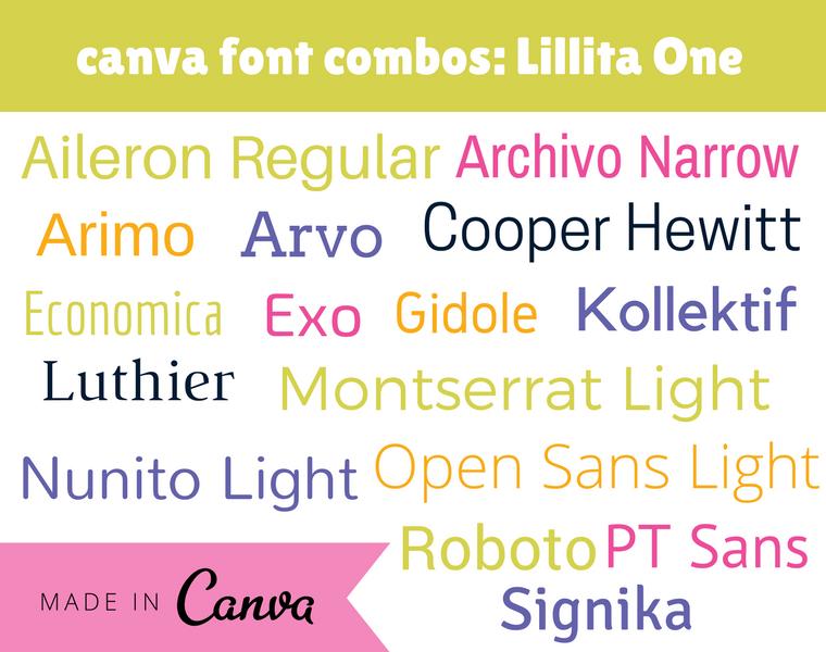 canva font combos- Lillita One