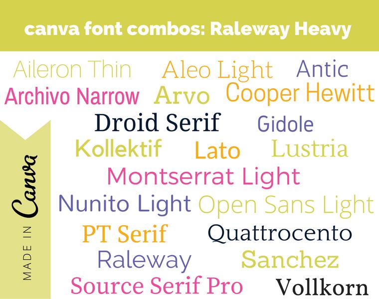 canva font combos- Raleway Heavy