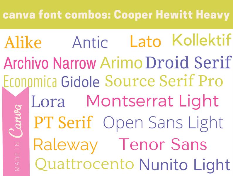 canva Combos: Cooper Hewitt Heavy
