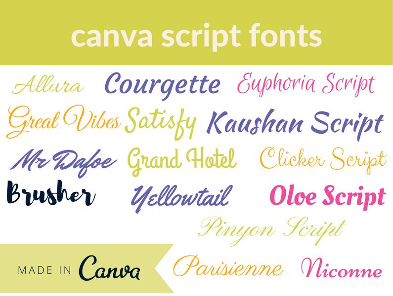 canva Script Fonts