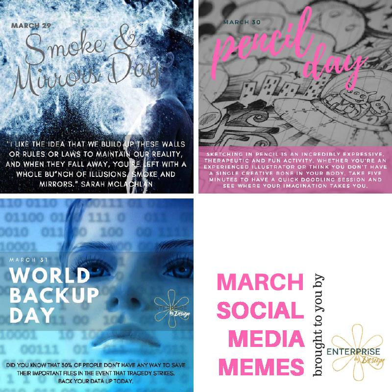 March 29-31 free social memes