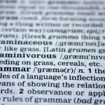 dictionary meaning for grammer