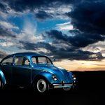 gorgeous blue VW beetle