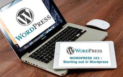 WordPress 101 : Starting out in WordPress