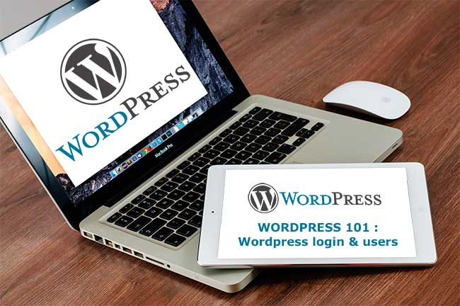 wordpress login & users