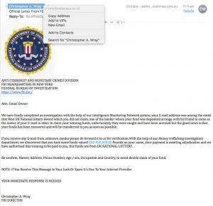 FBI scam email