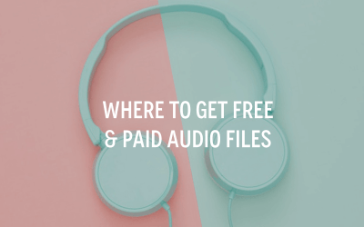 Where To Get Free & Paid Audio Files