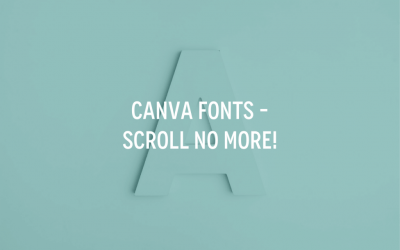 Canva Fonts: What's what in 2020?