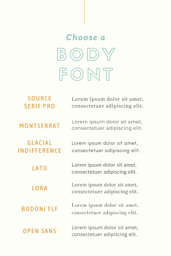body font