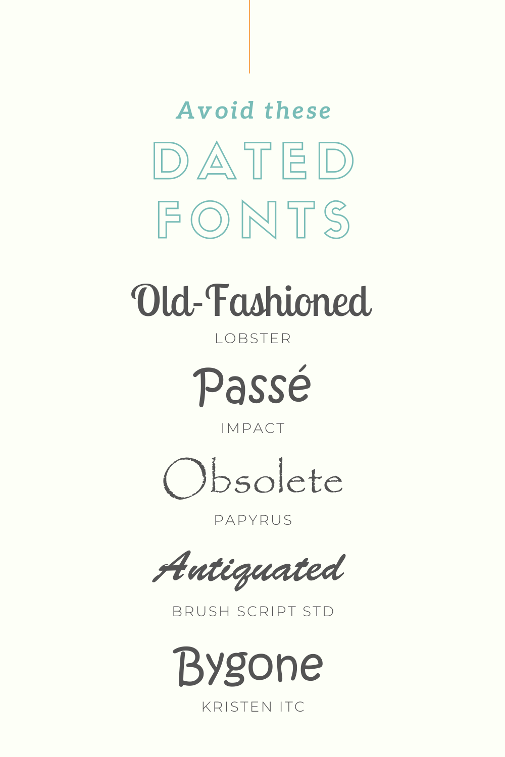 Avoid these dated fonts