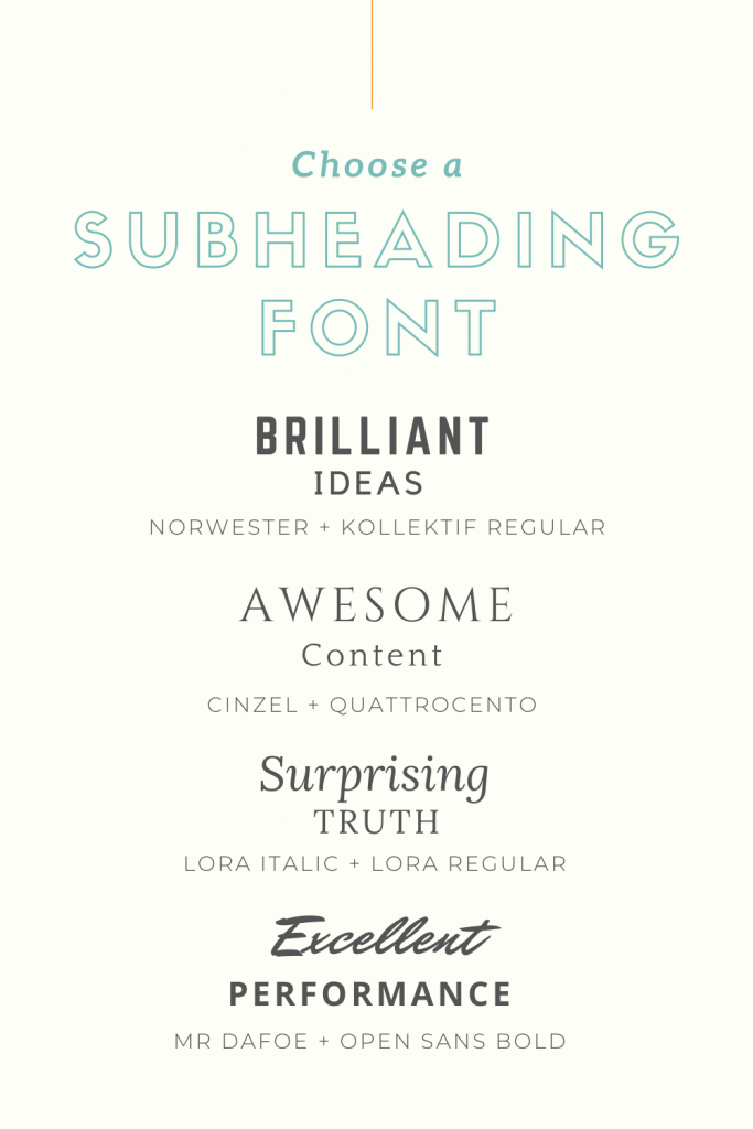subheading fonts