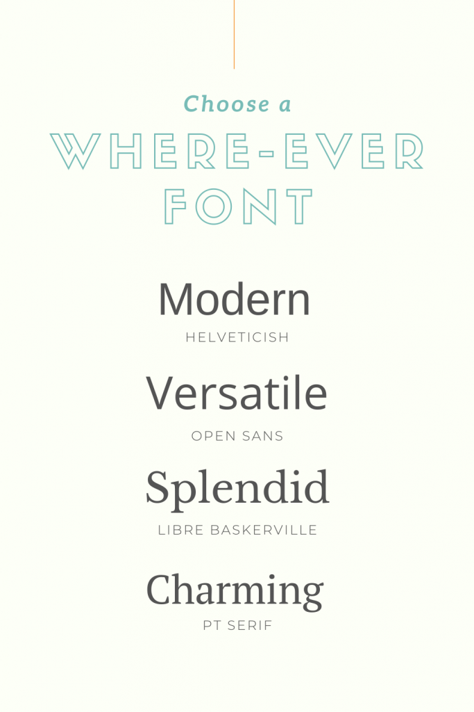 where-ever fonts