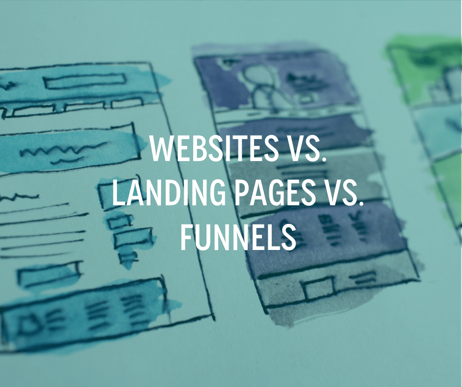 websites, landing pages, funnels